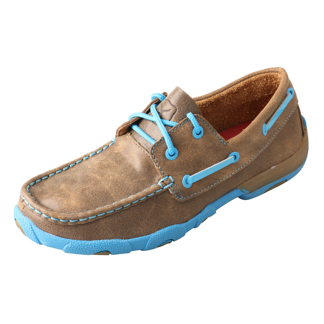 Picture of front outside of Women's Twisted X Boat Shoe Driving Moc WDM0019