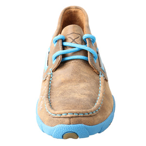 Picture of outside of Women's Twisted X Boat Shoe Driving Moc WDM0019
