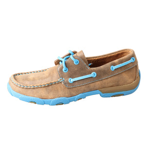 Picture of front of Women's Twisted X Boat Shoe Driving Moc WDM0019