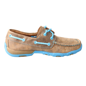 Picture of heel of Women's Twisted X Boat Shoe Driving Moc WDM0019