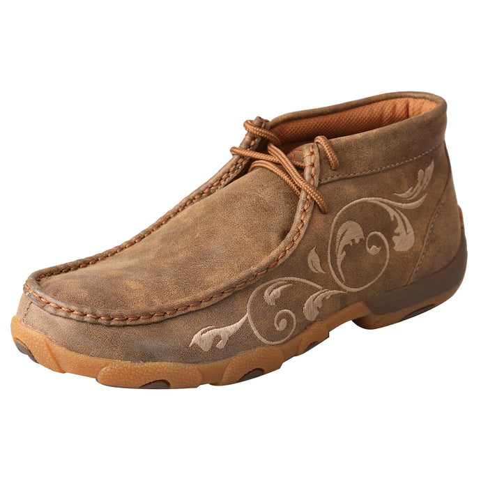 Picture of front outside of Women's Twisted X Chukka Driving Moc WDM0041