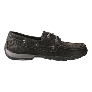 Picture of heel of Women's Twisted X Boat Shoe Driving Moc WDM0088