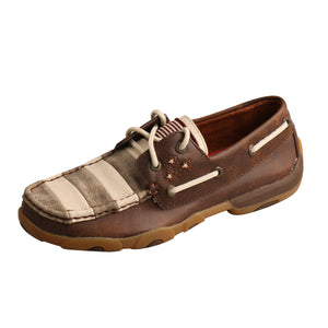Picture of front outside of Women's Twisted X VFW Boat Shoe Driving Moc WDM0100
