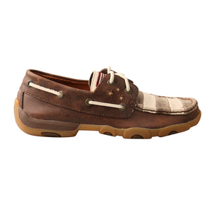 Picture of front of Women's Twisted X VFW Boat Shoe Driving Moc WDM0100