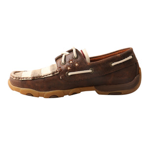 Picture of heel of Women's Twisted X VFW Boat Shoe Driving Moc WDM0100