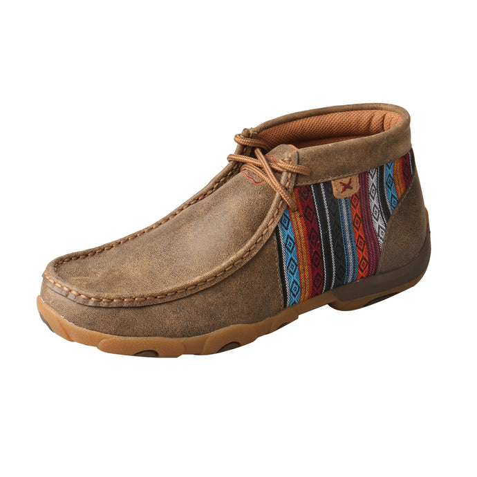 Picture of front outside of Women's Twisted X Chukka Driving Moc WDM0105