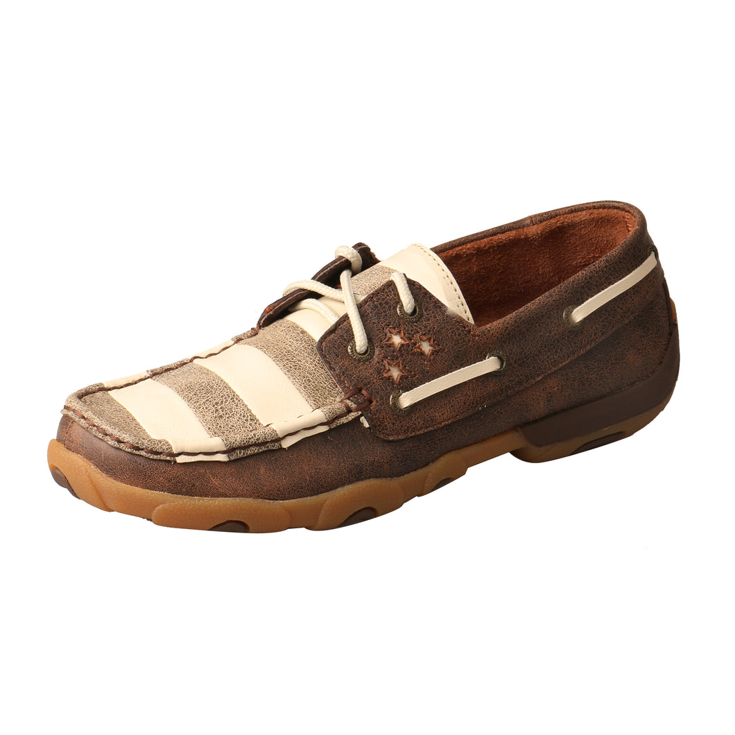 Picture of front outside of Women's Twisted X VFW Boat Shoe Driving Moc WDM0109
