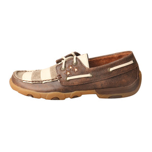 Picture of front of Women's Twisted X VFW Boat Shoe Driving Moc WDM0109