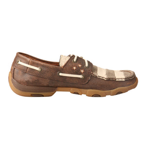 Picture of heel of Women's Twisted X VFW Boat Shoe Driving Moc WDM0109