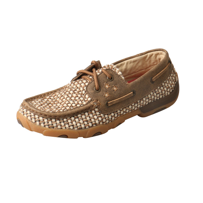Picture of front outside of Women's Twisted X VFW Boat Shoe Driving Moc WDM0110