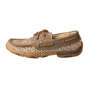 Picture of front of Women's Twisted X VFW Boat Shoe Driving Moc WDM0110