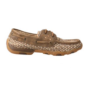 Picture of heel of Women's Twisted X VFW Boat Shoe Driving Moc WDM0110