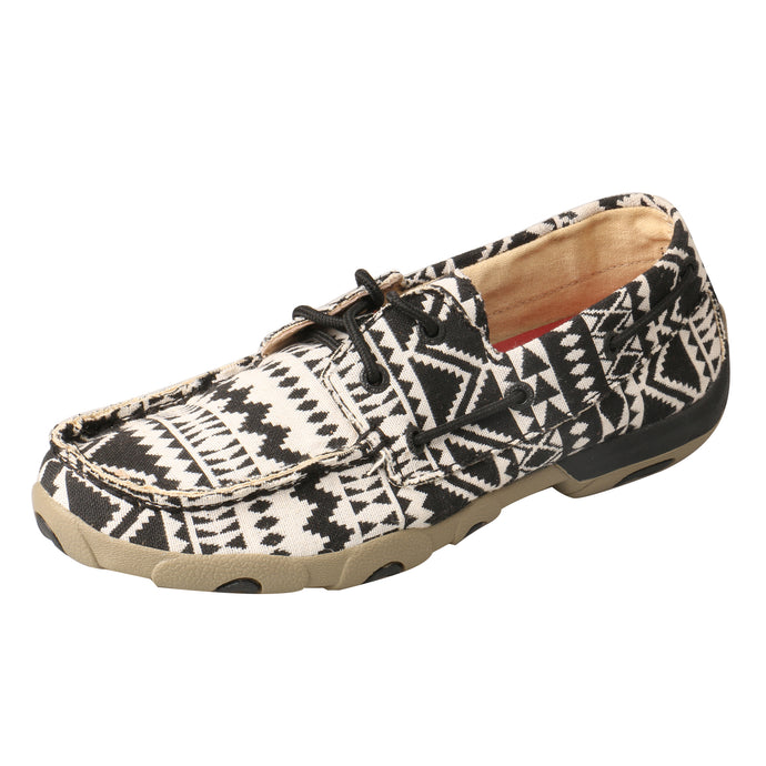 Picture of front outside of Women's Twisted X Boat Shoe Driving Moc WDM0112