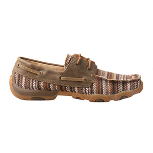 Picture of heel of Women's Twisted X Boat Shoe Driving Moc WDM0114