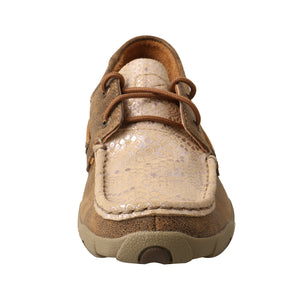 Picture of outside of Women's Twisted X Boat Shoe Driving Moc WDM0118