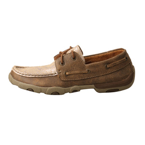 Picture of front of Women's Twisted X Boat Shoe Driving Moc WDM0118