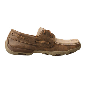Picture of heel of Women's Twisted X Boat Shoe Driving Moc WDM0118