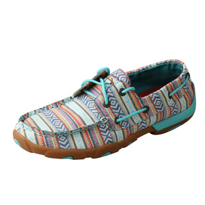 Picture of front outside of Women's Twisted X Boat Shoe Driving Moc WDM0124