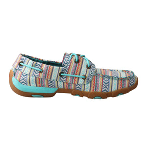 Picture of heel of Women's Twisted X Boat Shoe Driving Moc WDM0124