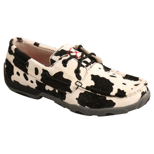 Picture of front inside of Women's Twisted X Boat Shoe Driving Moc WDM0131
