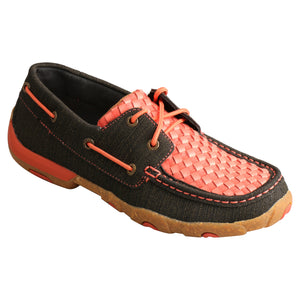 Picture of front inside of Women's Twisted X Boat Shoe Driving Moc WDM0141