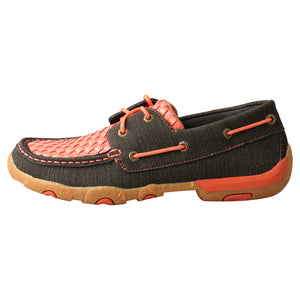 Picture of front of Women's Twisted X Boat Shoe Driving Moc WDM0141