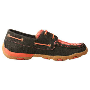 Picture of heel of Women's Twisted X Boat Shoe Driving Moc WDM0141
