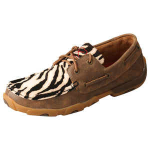 Picture of front outside of Women's Twisted X Boat Shoe Driving Moc WDM0142