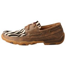 Load image into Gallery viewer, Picture of front of Women's Twisted X Boat Shoe Driving Moc WDM0142