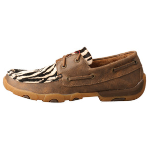 Picture of front of Women's Twisted X Boat Shoe Driving Moc WDM0142