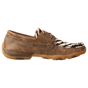 Picture of heel of Women's Twisted X Boat Shoe Driving Moc WDM0142