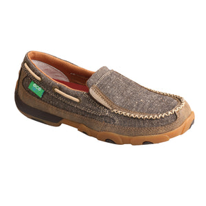 Picture of front inside of Women's Twisted X ecoTWX Slip-On Driving Moc WDMS009