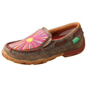 Picture of front outside of Women's Twisted X ecoTWX Slip-On Driving Moc WDMS021