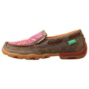 Picture of front of Women's Twisted X ecoTWX Slip-On Driving Moc WDMS021
