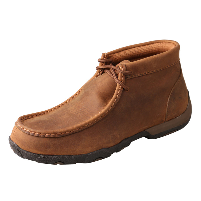 Picture of front outside of Women's Twisted X Lace Up Soft Toe Work Chukka Driving Moc WDMW001