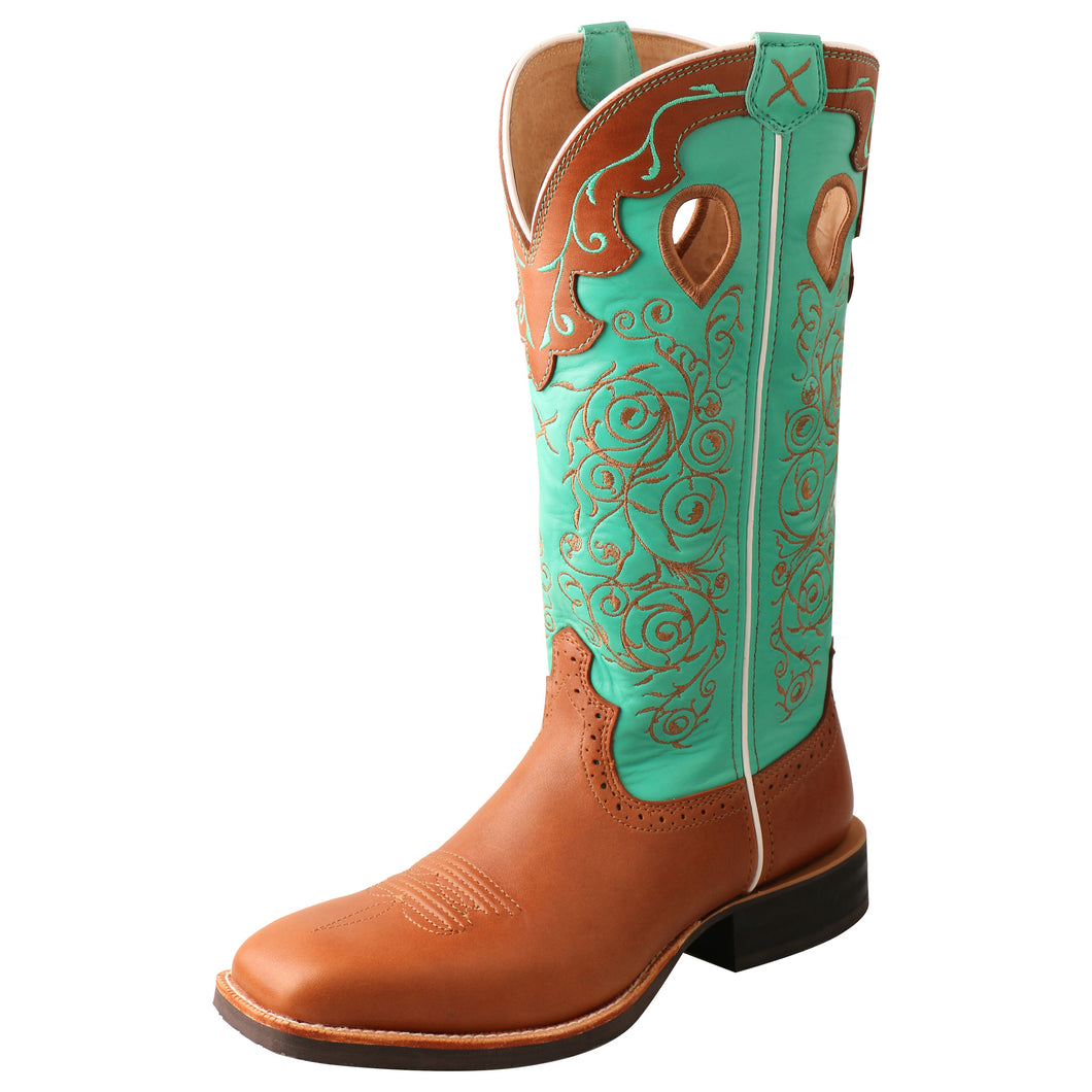 Picture of front outside of Women's Twisted X Ruff Stock Boot WRS0032