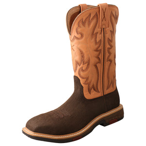 "Picture of front outside of Women's Twisted X CellStretch Pull On Safety Toe 11"" Western Work Boot WXBC001"