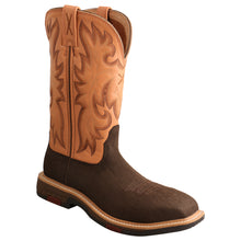 "Load image into Gallery viewer, Picture of front inside of Women's Twisted X CellStretch Pull On Safety Toe 11"" Western Work Boot WXBC001"