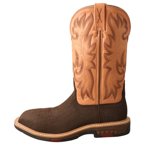 "Picture of front of Women's Twisted X CellStretch Pull On Safety Toe 11"" Western Work Boot WXBC001"