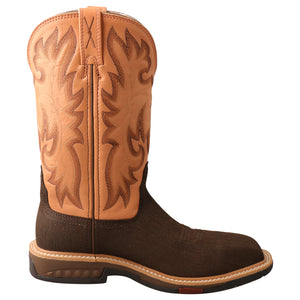 "Picture of heel of Women's Twisted X CellStretch Pull On Safety Toe 11"" Western Work Boot WXBC001"