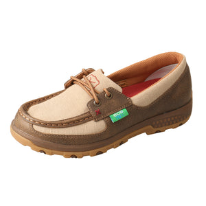Picture of front outside of Women's Twisted X Boat Shoe Driving Moc with CellStretch WXC0003