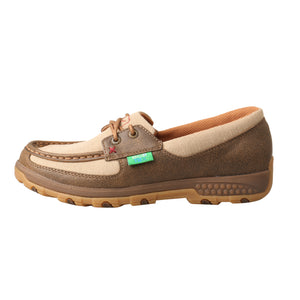 Picture of front of Women's Twisted X Boat Shoe Driving Moc with CellStretch WXC0003