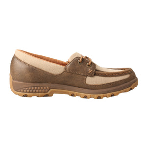 Picture of heel of Women's Twisted X Boat Shoe Driving Moc with CellStretch WXC0003