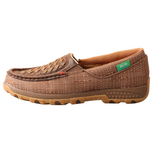 Picture of front of Women's Twisted X CellStretch ecoTWX Slip-On Driving Moc WXC0009