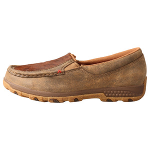 Picture of front of Women's Twisted X CellStretch Slip-On Driving Moc WXC0011
