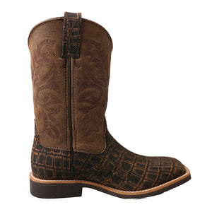 Picture of heel of Kid's Twisted X Western Work Boot YCW0011