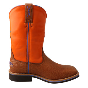 Picture of heel of Kid's Twisted X Western Work Boot YCW0012