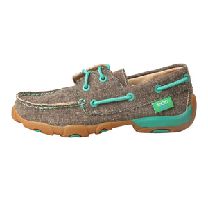 Picture of front of Kid's Twisted X Boat Shoe Driving Moc YDM0040