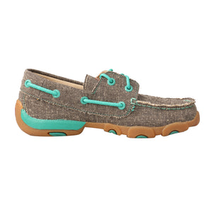 Picture of heel of Kid's Twisted X Boat Shoe Driving Moc YDM0040