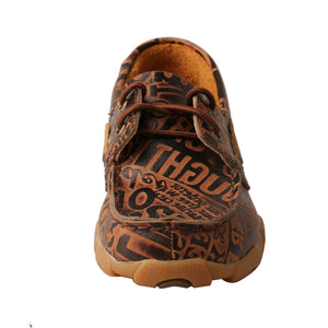 Picture of outside of Kid's Twisted X Boat Shoe Driving Moc YDM0043